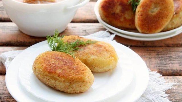 Постные котлеты из картофеля