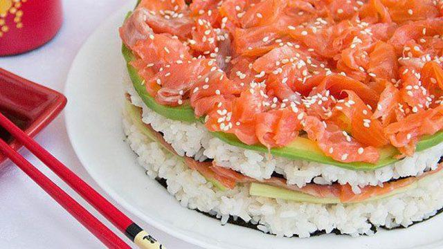 Суши торт - оригинальный праздничный салат