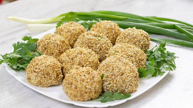 Салатные рыбные шарики (Салат «Мимоза»)