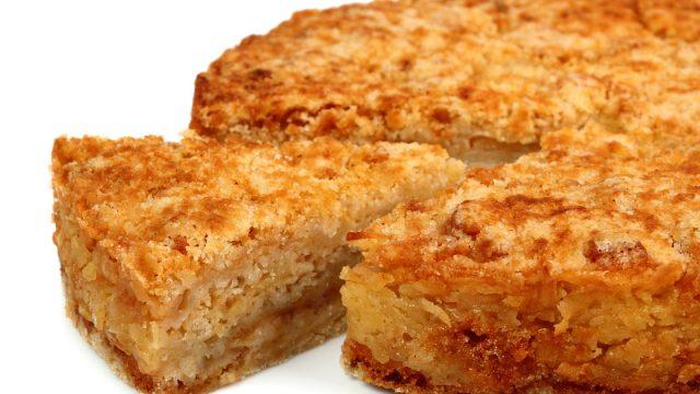 Насыпной яблочный пирог - простой десерт