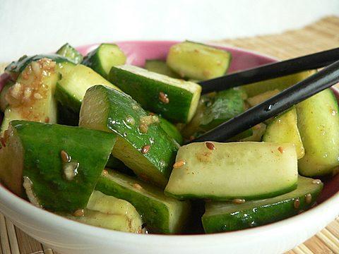 Корейские салаты из огурцов
