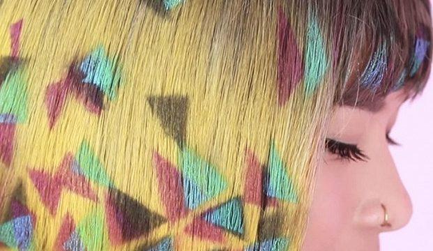 Граффити-волосы – главный летний тренд