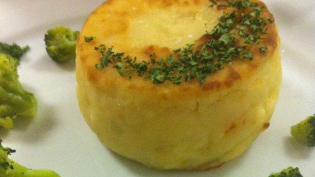 Картофельный кейк с карамелизированной тыквой